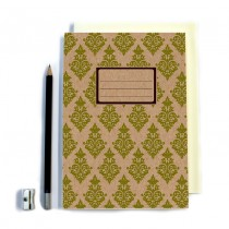 Green Patterned Notebook
