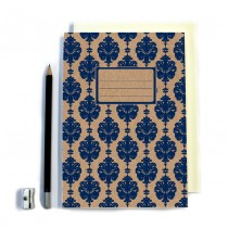Navy Patterned Notebook