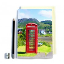 Red Telephone Box Stitched Notebook
