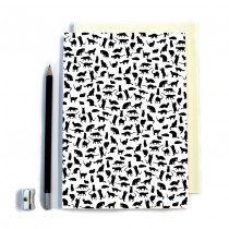 Cat Pattern Stitched Notebook