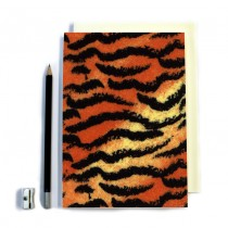 Tiger Style Print Stitched Notebook