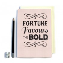 Fortune Favours' Stitched Notebook