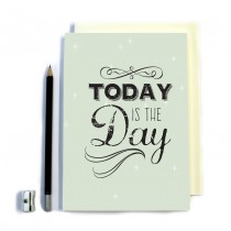 Today is the Day' Stitched Notebook