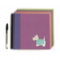 Pink Tweed/Dog Scrapbook
