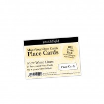 White Linen Place Cards New 50s