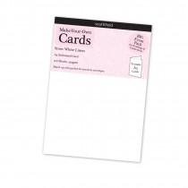 A4 White Linen Card New 100s