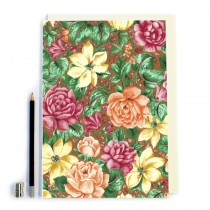 Orange Floral Notebook