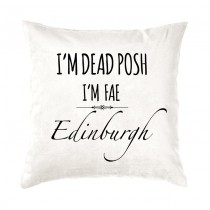 Dead Posh Velvet Cushion + Tag