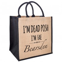 Dead Posh Jute Shopper+Tag