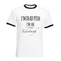 DEAD POSH Printed T-Shirt Black trim
