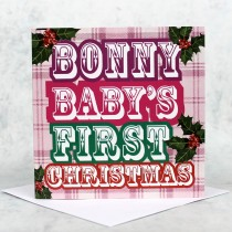 Bonny Baby Red Christmas Card
