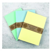 A5 Linen Finish Notebooks (set of 3)