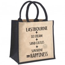 Sums Printed Jute Shopper+Tag