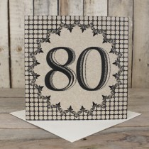 80th Eco Birthday Card