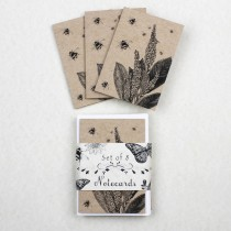 Eco Notecards Foxgloves & Bees