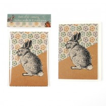 Eco Rabbit Notecard