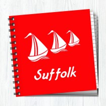 Sq Notebook White Boats