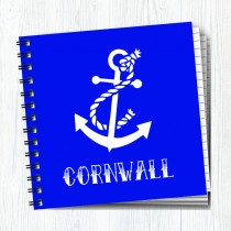 Sq Notebook White Anchor