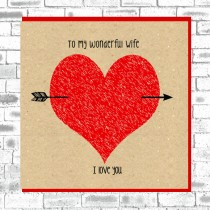 Eco Love You Card-Wife