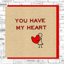 Eco True Love Card-Have My Heart