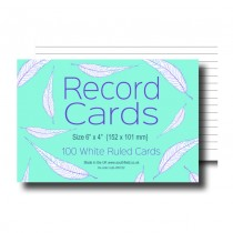 Ruled White Record Cards 6x4