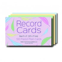 Plain Coloured Record Cards 5x3