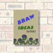 A6 Eco Notebook-Braw Ideas
