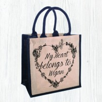Juco Bag-My Heart Belongs +Tag