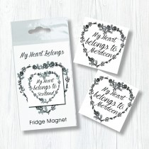 My Heart Belongs Bagged Magnet
