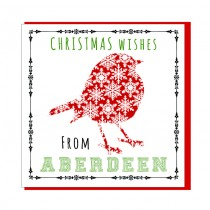 Personalise-Christmas Wishes Robin Textured