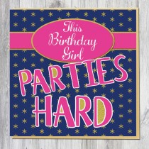 Greeting Card-Parties Hard