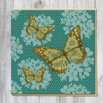 Greeting Card-Gold Butterfly