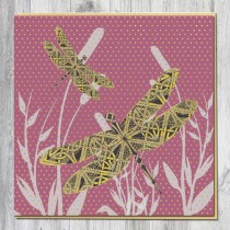 Greeting Card-Gold Dragonfly