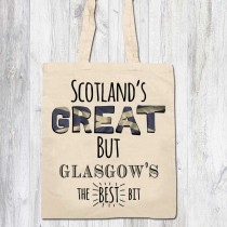 Scotlands Great Ivory Printed Bags & Tag