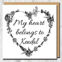 Heart Belongs Greeting Card
