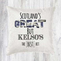 Scotlands Great Velvet Cushion+Tag