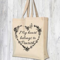 Heart Belong-Gusset Cotton Bag
