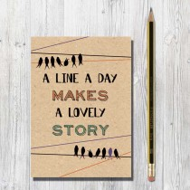 A6 Eco Notebook-A Line a Day
