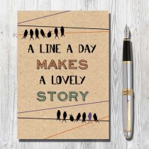 A5 Eco Notebook-A Line a Day