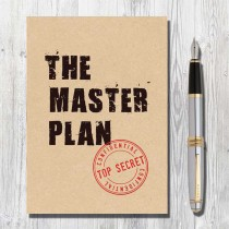 A5 Eco Notebook-Master Plan