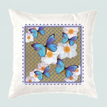 Cushion-Blue Butterflies (with inner)