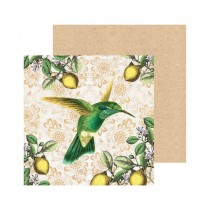 Watercolour Hummingbird Square Greeting Card
