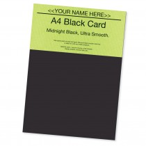 P - Smooth Black Card 220gsm