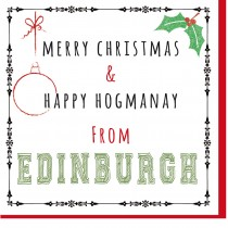 Personalise-Xmas/Happy Hogmanay Card