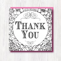 Colour-In Thank you card 2