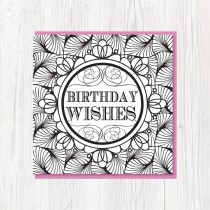Colour-In Birthday Card 2