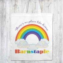 Rainbow White Shopper+Tag