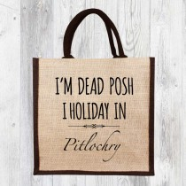 I Holiday In Jute Shopper+Tag