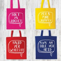 Coloured Bag Printed white Ink