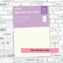 A4 Creased Ivory Hammer Cards (100)